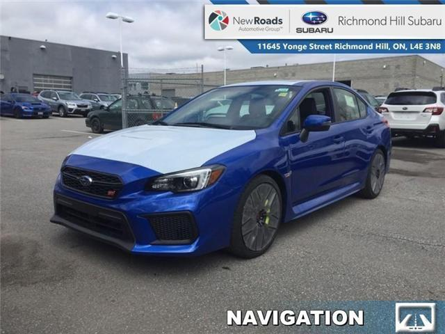 2019 Subaru WRX STI Sport-Tech w/Lip (Stk: 32567) in RICHMOND HILL - Image 1 of 19