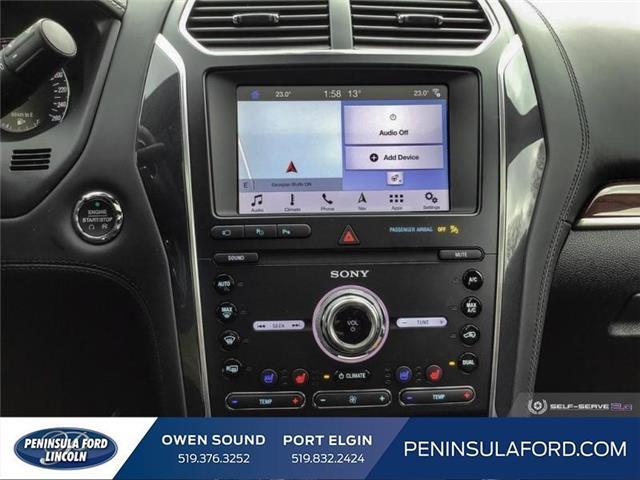 2019 Ford Explorer Platinum (Stk: 19EX07) in Owen Sound - Image 18 of 24