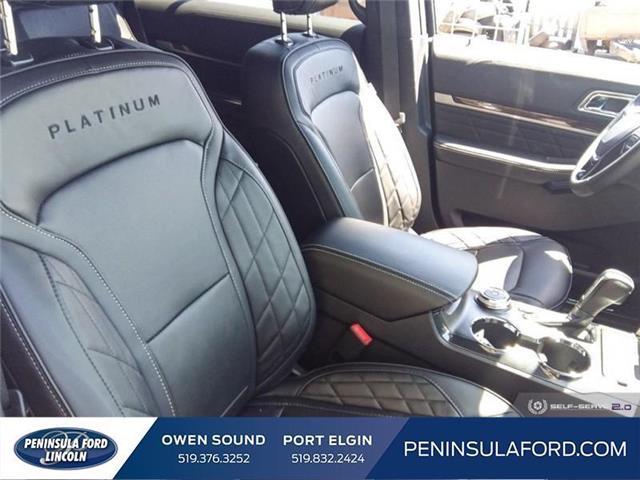2019 Ford Explorer Platinum (Stk: 19EX10) in Owen Sound - Image 21 of 24