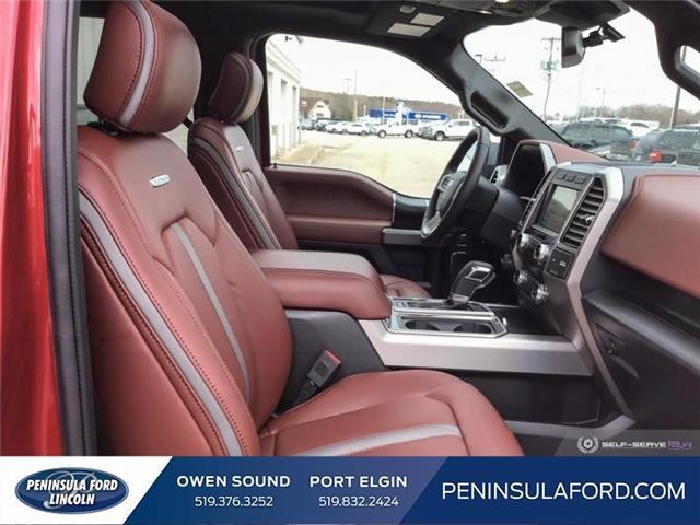 2019 Ford F-150 Platinum (Stk: 19FE125) in Owen Sound - Image 21 of 24