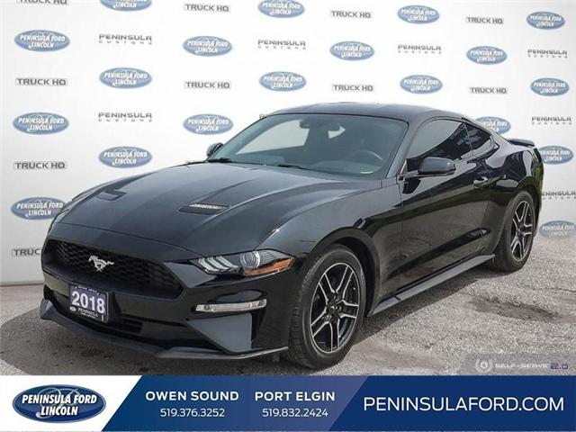 2018 Ford Mustang  (Stk: 19MU13A) in Owen Sound - Image 1 of 25