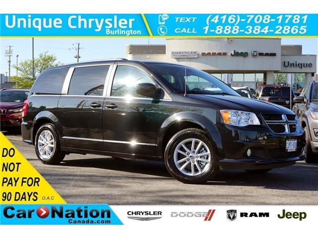 2019 Dodge Grand Caravan SXT PREMIUM PLUS| NAV| DVD| REAR PARK ASSIST (Stk: K315L) in Burlington - Image 1 of 50