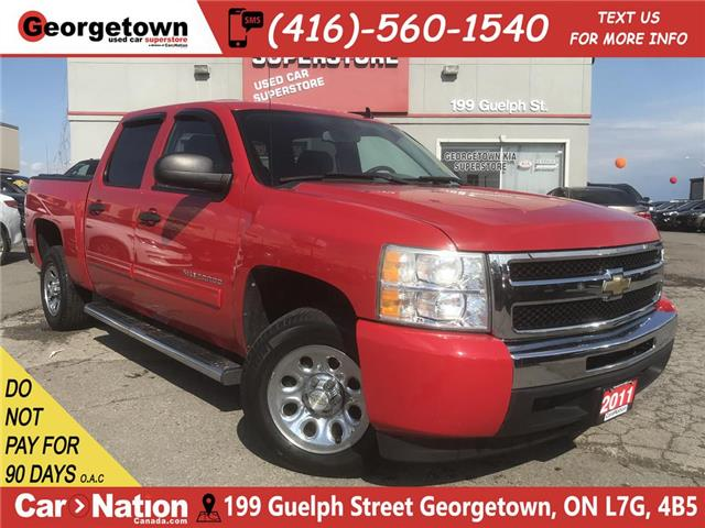 2011 Chevrolet Silverado 1500 LS | CREW CAB | 6 PASS | 4.8L V8 | HOT RED | (Stk: P12124) in Georgetown - Image 1 of 24