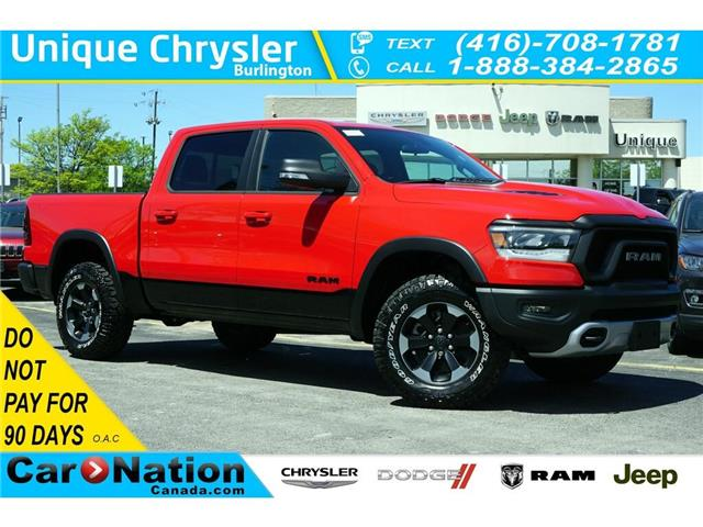 2019 RAM 1500 REBEL| 3.92 AXLE| OFF-ROAD GRP| REAR CAM & MORE (Stk: K390L) in Burlington - Image 1 of 47