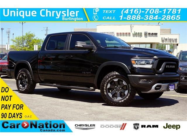 2019 RAM 1500 REBEL| 3.92 AXLE| BED UTILITY GRP| LEVEL2 GRP (Stk: J1166A) in Burlington - Image 1 of 48