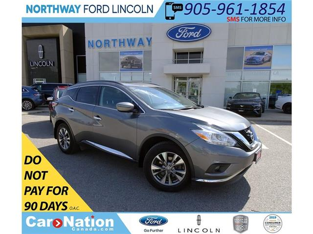 2017 Nissan Murano SV | AWD | NAV | HTD SEATS+WHEEL | PANOROOF | (Stk: DR264) in Brantford - Image 1 of 42