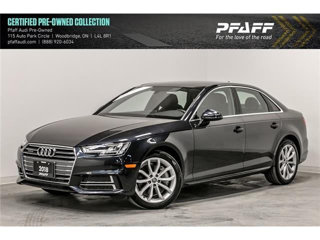 2018 Audi A4 2.0T Progressiv (Stk: C6798) in Woodbridge - Image 1 of 22