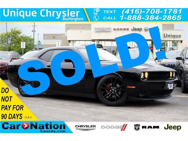 2018 Dodge Challenger SXT BLACKTOP| FLOWMASTER EXHAUST| NAV| ALPINE (Stk: J187A) in Burlington - Image 1 of 44