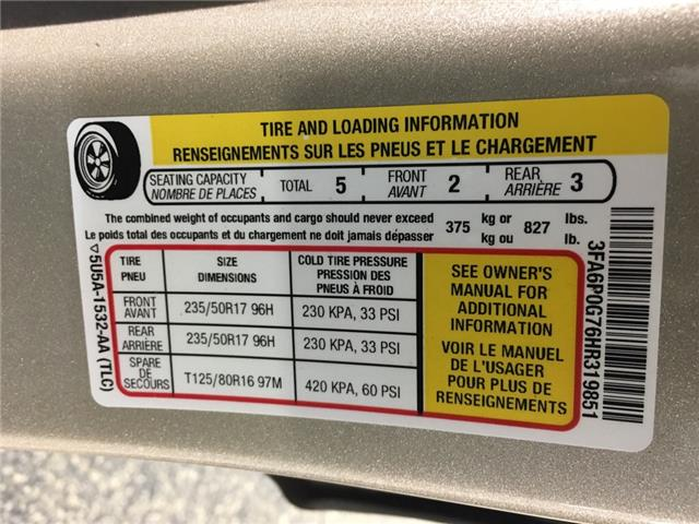 2017 Ford Fusion S (Stk: 34898EWA) in Belleville - Image 19 of 22