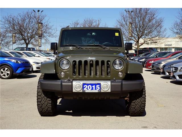 2015 Jeep Wrangler Unlimited SAHARA| 6-SPD MT| OFF-ROAD TIRES| HARDTOP| NAV (Stk: J405A) in Burlington - Image 2 of 45