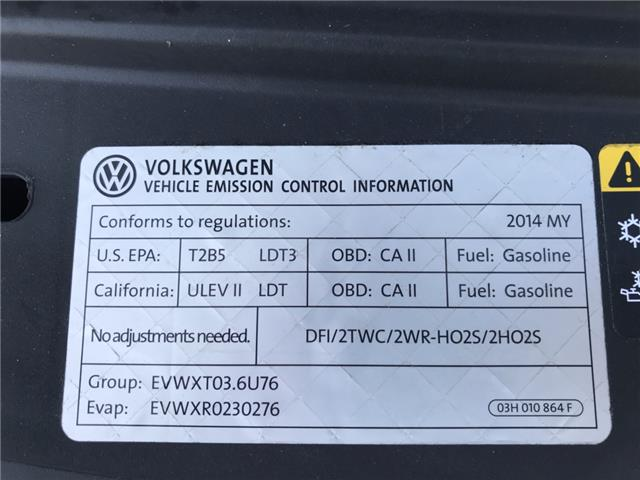 2014 Volkswagen Touareg 3.6L Comfortline (Stk: ED010751T) in Sarnia - Image 27 of 27