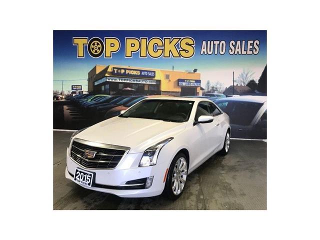 North Bay Cadillac >> 2015 Cadillac Ats 2 0l Turbo Luxury Diamond White Coupe Awd Leather