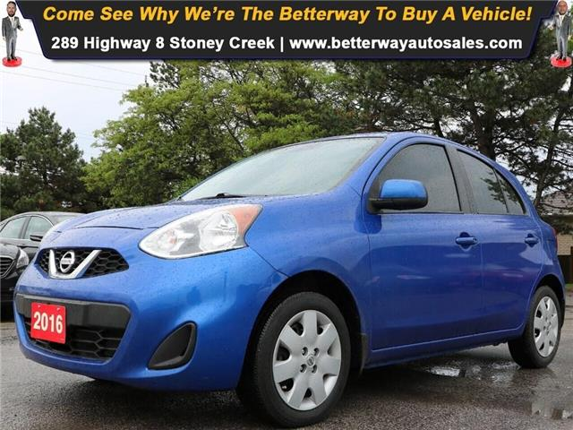 2016 Nissan Micra SV| B-Tooth| Keyless Ent| Gas Saver! (Stk: 5398) in Stoney Creek - Image 1 of 15