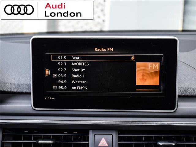 2018 Audi A4 2.0T Progressiv (Stk: 414768) in London - Image 22 of 24
