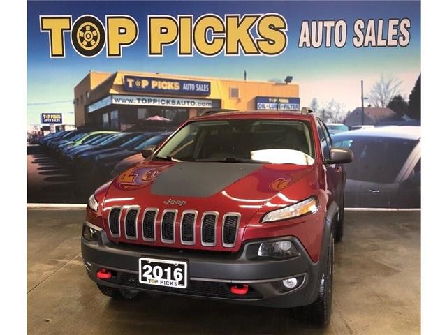 2016 Jeep Cherokee Trailhawk (Stk: 128742) in NORTH BAY - Image 1 of 30