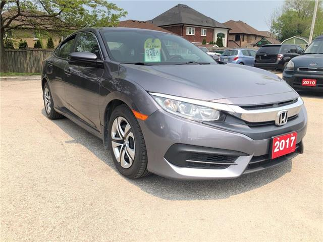 2017 Honda Civic LX| Heat Seat| Backup Cam| B-Tooth| loaded (Stk: 5326) in Stoney Creek - Image 1 of 29