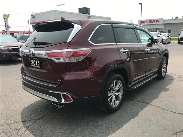 2015 Toyota Highlander LE (Stk: P0055440) in Cambridge - Image 6 of 15