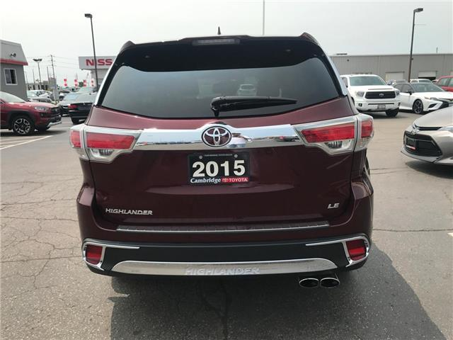 2015 Toyota Highlander LE (Stk: P0055440) in Cambridge - Image 7 of 15