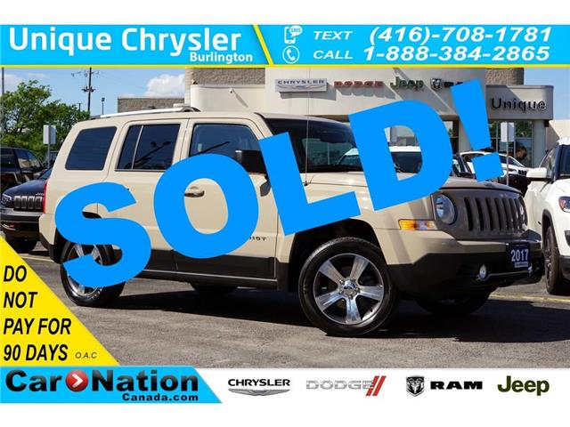 2017 Jeep Patriot HIGH ALTITUDE| 4X4| NAV| LEATHER| SUNROOF & MORE (Stk: K830A) in Burlington - Image 1 of 44