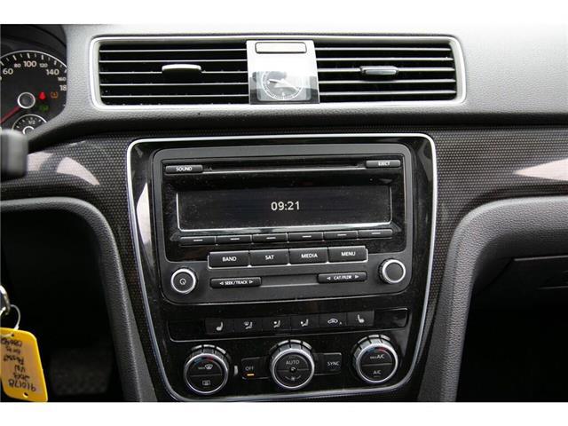 2013 Volkswagen Passat 2.5L Comfortline (Stk: 91017B) in Gatineau - Image 19 of 28