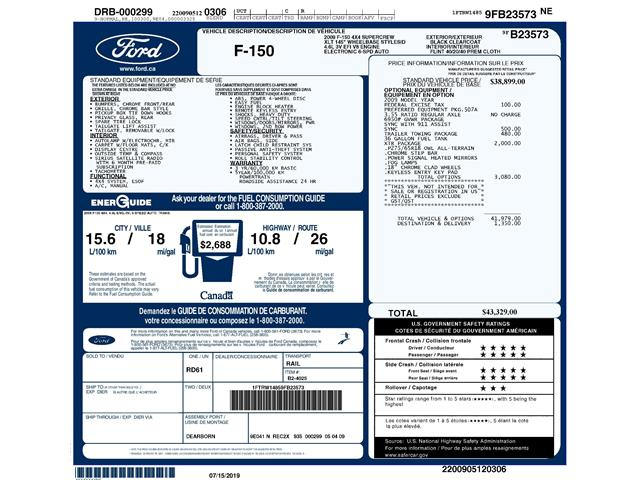 2009 Ford F-150 XLT (Stk: D94920AXJ) in Kitchener - Image 2 of 6