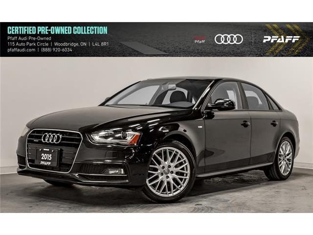 2015 Audi A4 2.0T Komfort (Stk: C6979) in Woodbridge - Image 1 of 22
