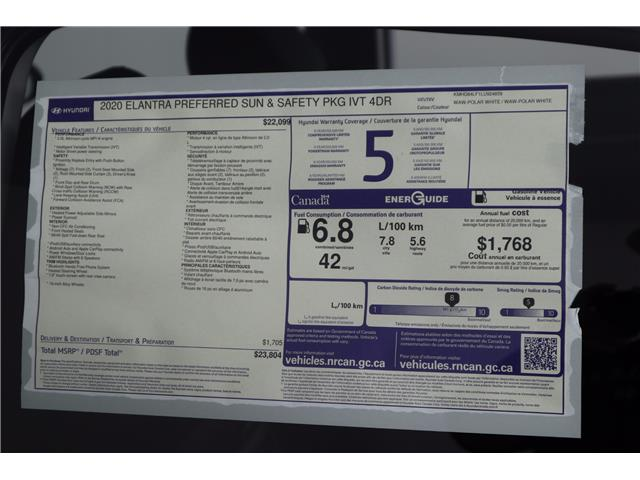 2020 Hyundai Elantra Preferred w/Sun & Safety Package (Stk: 120-010) in Huntsville - Image 11 of 34