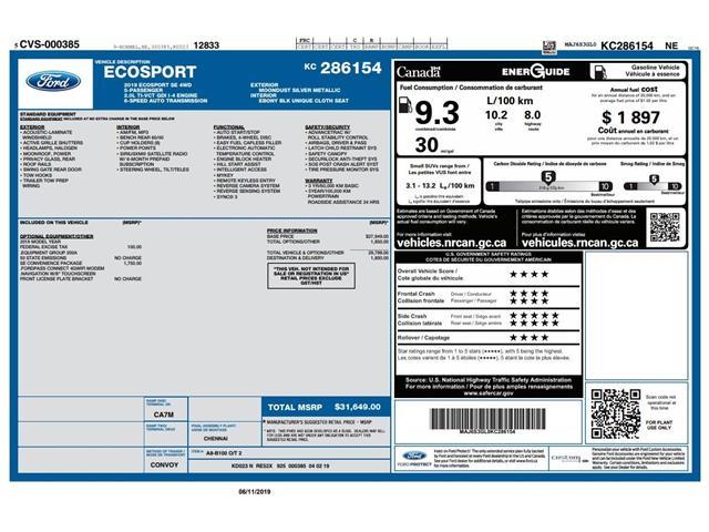 2019 Ford EcoSport SE (Stk: ET19740) in Barrie - Image 2 of 27