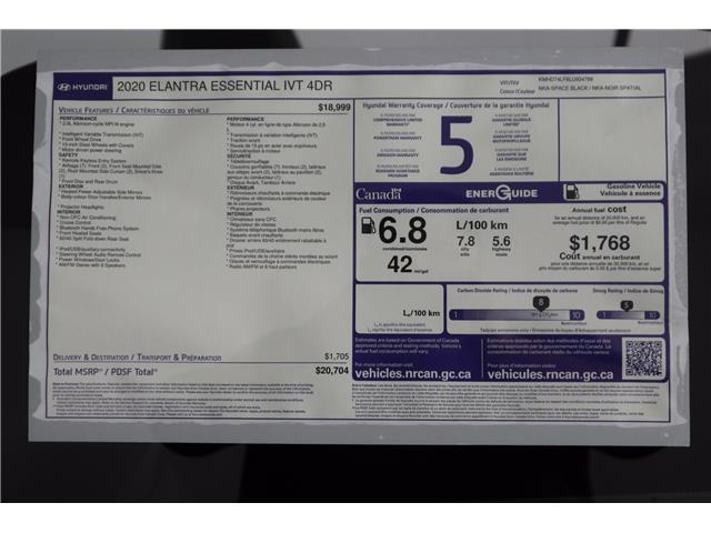 2020 Hyundai Elantra ESSENTIAL (Stk: 120-013) in Huntsville - Image 11 of 32