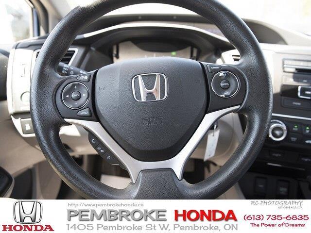 2015 Honda Civic LX (Stk: P7405) in Pembroke - Image 11 of 24