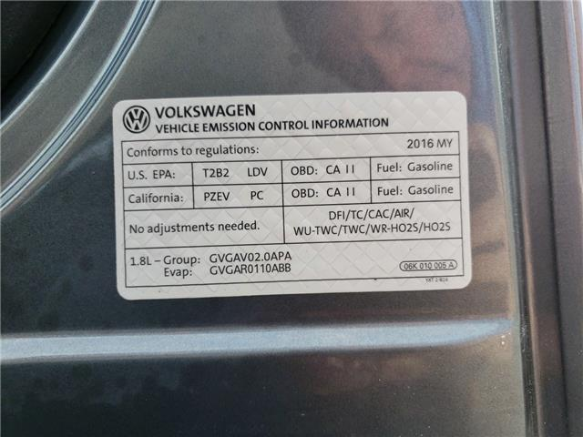 2016 Volkswagen Golf Sportwagon 1.8 TSI Comfortline (Stk: GM523201) in Sarnia - Image 23 of 23