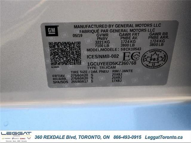 2019 Chevrolet Silverado 1500 RST (Stk: 360768) in Etobicoke - Image 21 of 21