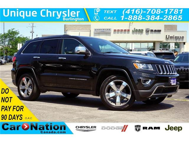 2015 Jeep Grand Cherokee LIMITED| 4X4| SUNROOF| NAV| LEATHER & MORE (Stk: K499A) in Burlington - Image 1 of 50