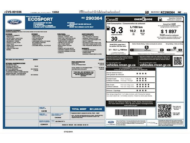 2019 Ford EcoSport SE (Stk: ET19798) in Barrie - Image 2 of 27