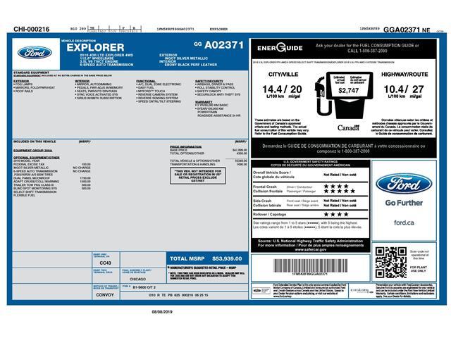 2016 Ford Explorer Limited (Stk: 148610) in Kitchener - Image 2 of 5