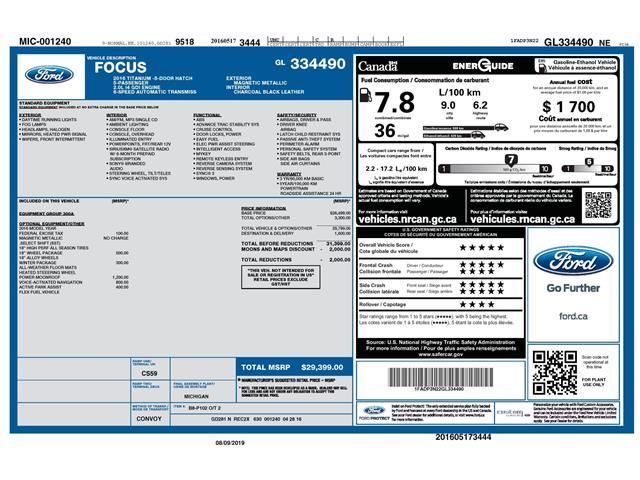2016 Ford Focus Titanium (Stk: 148640) in Kitchener - Image 2 of 4