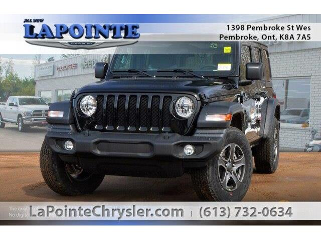 2019 Jeep Wrangler Unlimited Sport (Stk: 19306) in Pembroke - Image 1 of 20