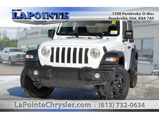 2019 Jeep Wrangler Sport (Stk: 19224) in Pembroke - Image 1 of 20
