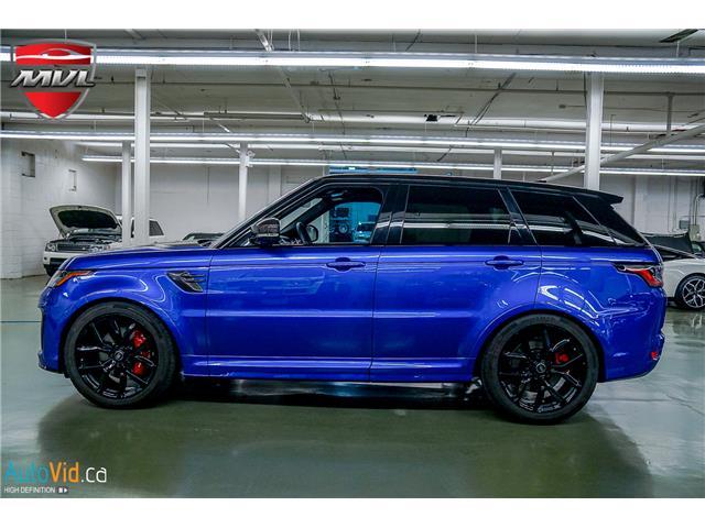 2019 Land Rover Range Rover Sport SVR (Stk: ) in Oakville - Image 3 of 39