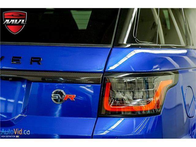 2019 Land Rover Range Rover Sport SVR (Stk: ) in Oakville - Image 11 of 39
