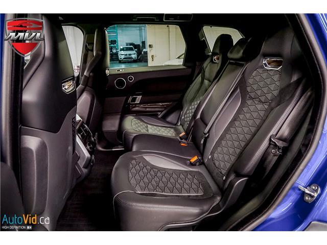 2019 Land Rover Range Rover Sport SVR (Stk: ) in Oakville - Image 34 of 39
