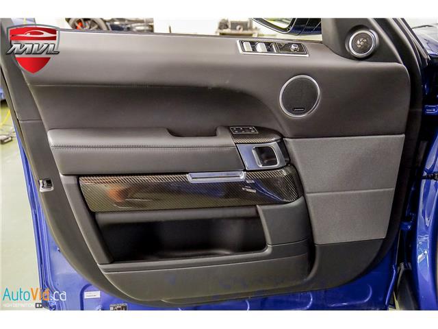 2019 Land Rover Range Rover Sport SVR (Stk: ) in Oakville - Image 26 of 39