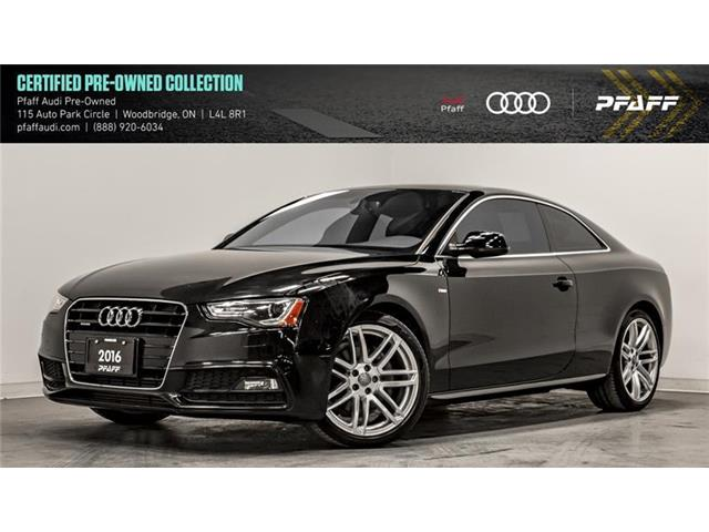 2016 Audi A5 2.0T Progressiv (Stk: T16525A) in Woodbridge - Image 1 of 22