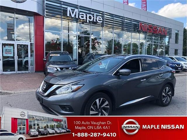 2017 Nissan Murano Platinum AWD-Bose,Leather,Navi,Loaded! (Stk: M19M039A) in Maple - Image 1 of 16