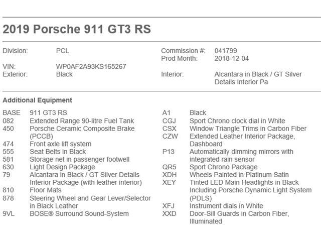 2019 Porsche 911 GT3 RS (Stk: ) in Oakville - Image 41 of 41