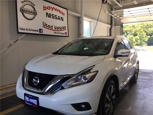 2016 Nissan Murano Platinum (Stk: P0701) in Owen Sound - Image 1 of 13