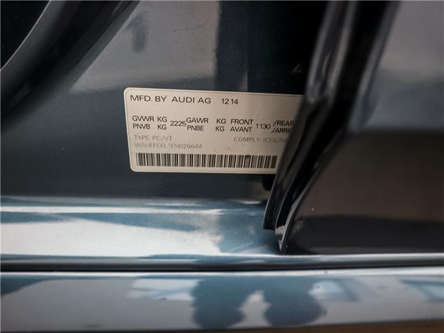 2015 Audi A4 2.0T Progressiv (Stk: 190813A) in Toronto - Image 28 of 30