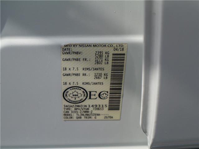 2018 Nissan Murano SL (Stk: JN149315) in Cobourg - Image 31 of 34