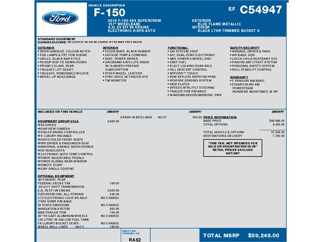 2014 Ford F-150 FX4 (Stk: C3085) in Concord - Image 1 of 1
