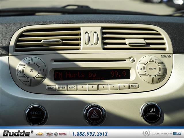 2012 Fiat 500 Lounge (Stk: XT7208LA) in Oakville - Image 16 of 25